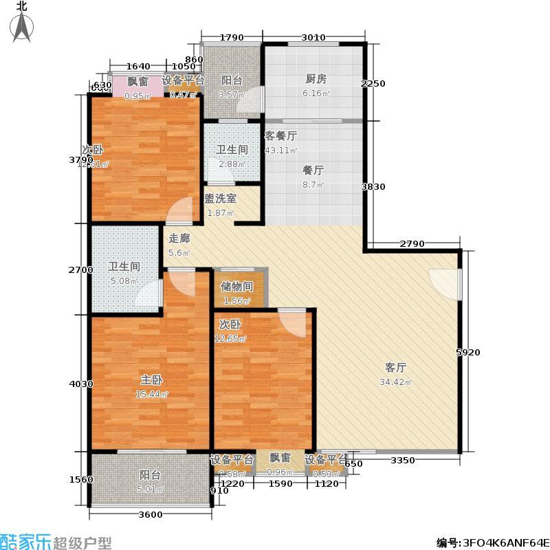 新旅城A3户型3室1厅2卫1厨