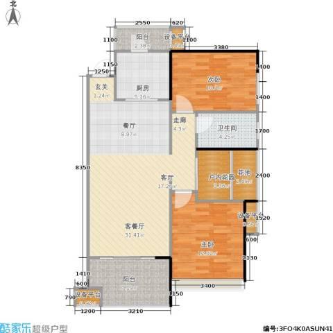 长房南屏锦源2室1厅1卫1厨89.00㎡户型图