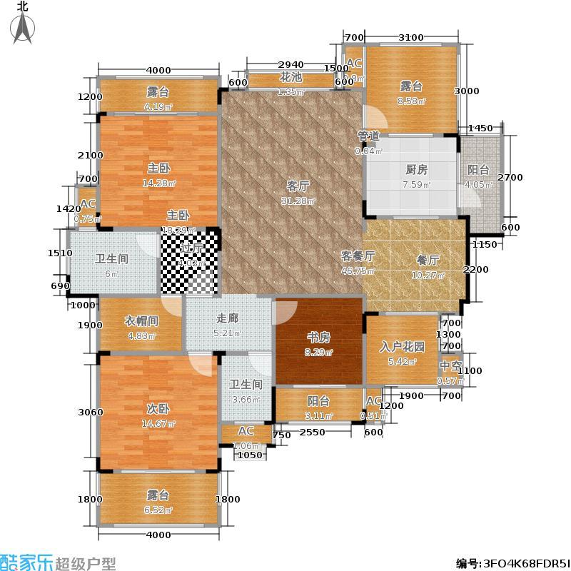俊峰香格里拉124.70㎡三室两厅两卫销售面积约124.7平米户型3室2厅2卫