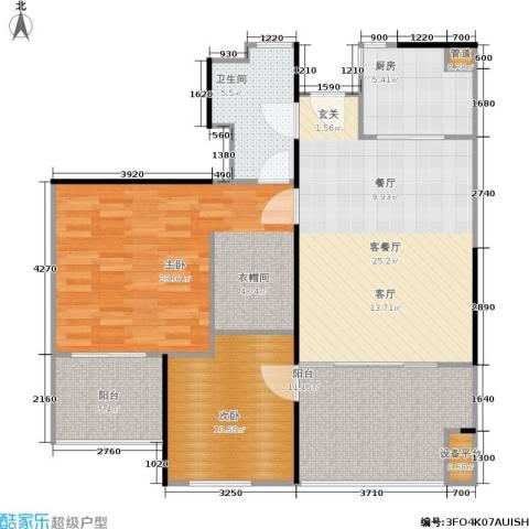万科金色家园2室1厅1卫1厨94.00㎡户型图