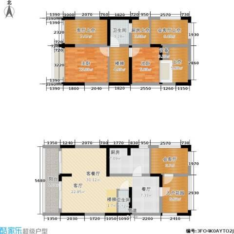 世纪春城2室1厅2卫1厨108.41㎡户型图