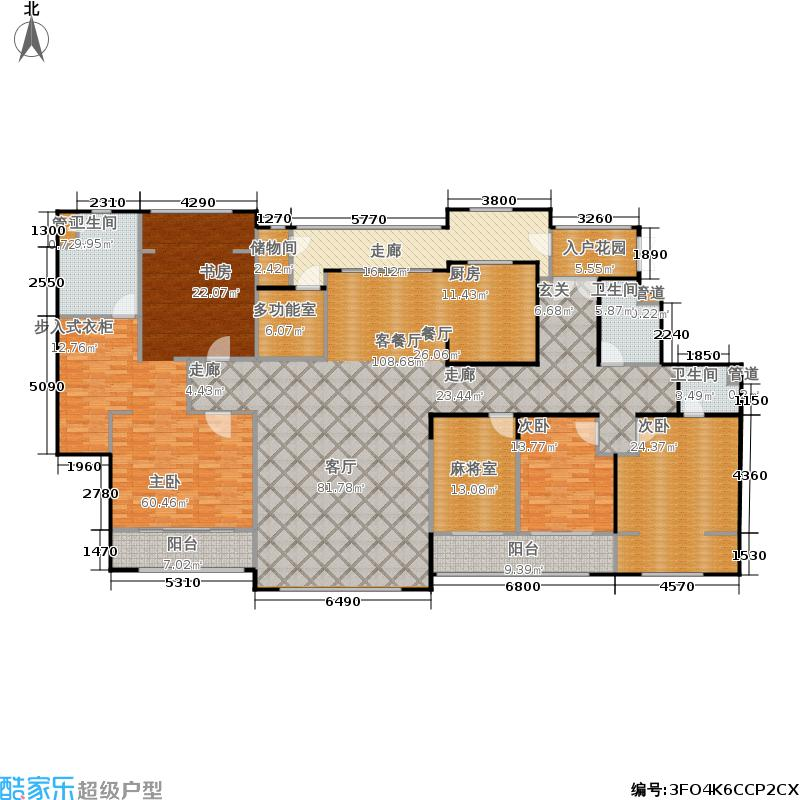 SR国际新城306.73㎡SR国际新城户型图D户型六室二厅三卫(1/1张)户型10室