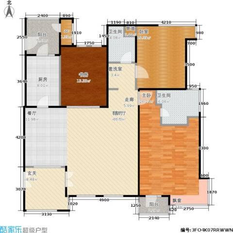 伊顿国际2室1厅2卫1厨149.52㎡户型图