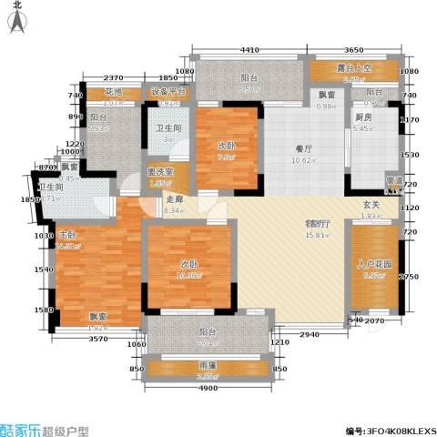 海语山林3室1厅2卫1厨176.00㎡户型图