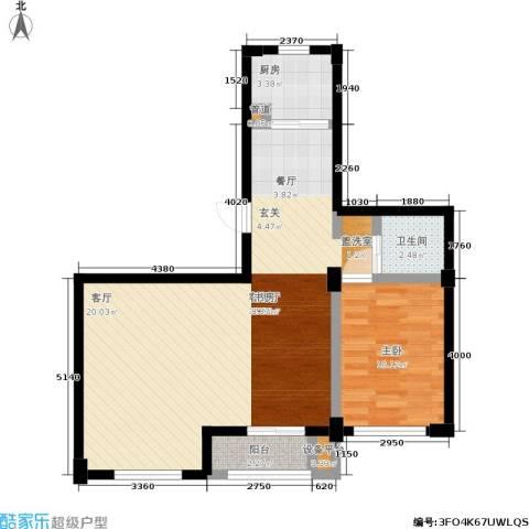 左岸尊邸1室1厅1卫1厨82.00㎡户型图