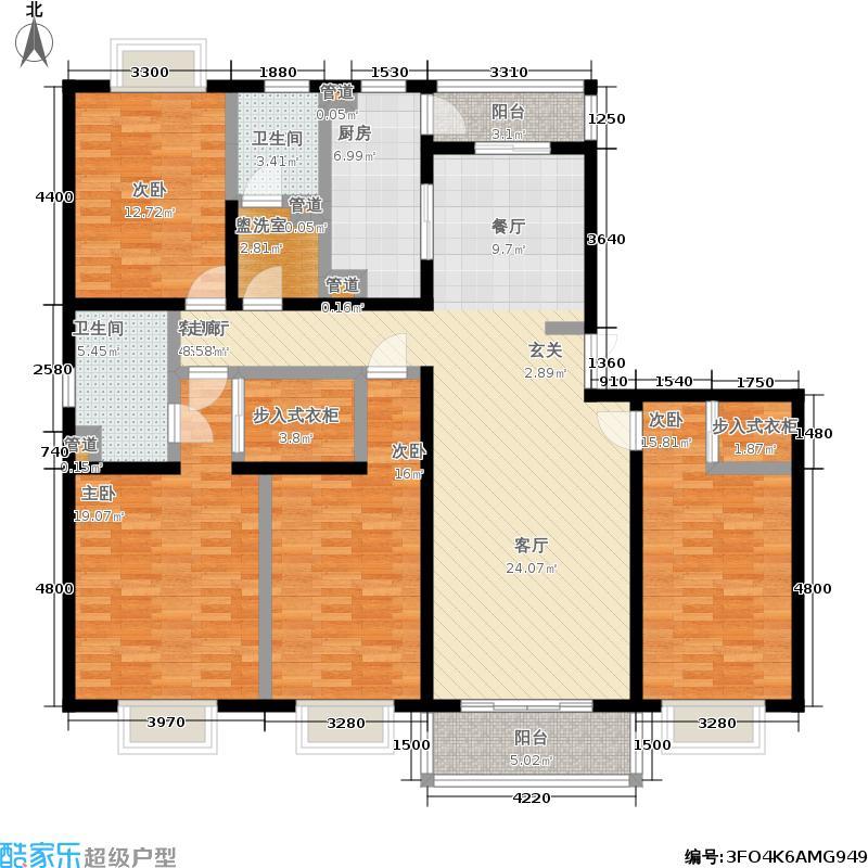 新旺朝公寓172.80㎡房型: 四房; 面积段: 172.8 -172.8 平方米;户型