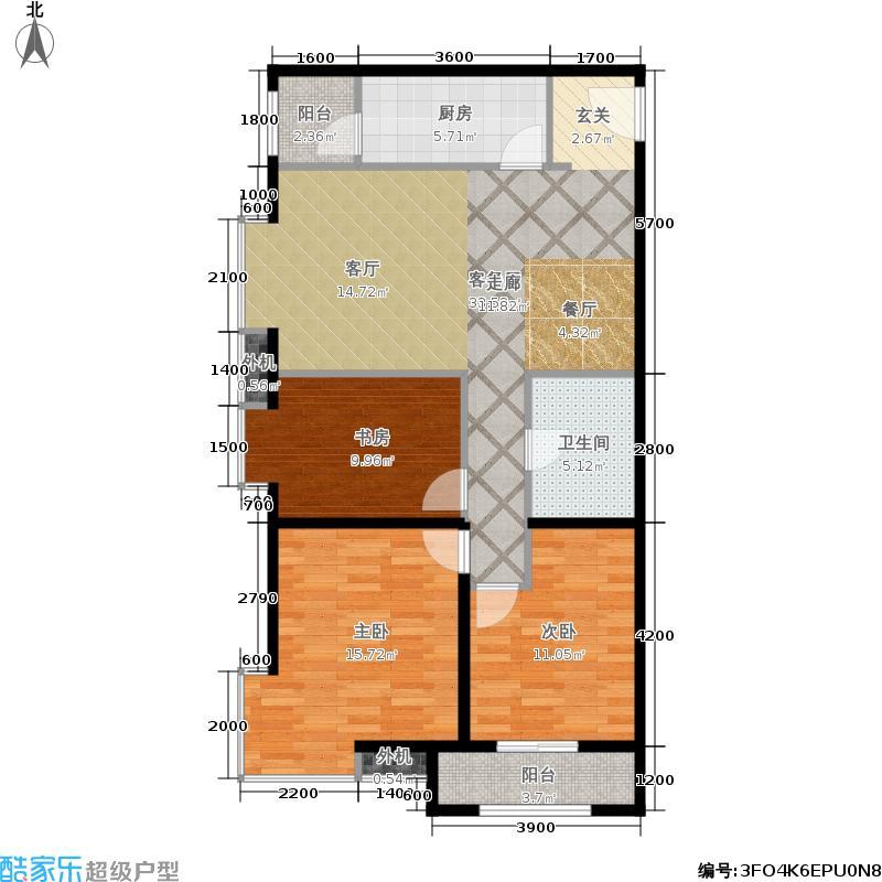 东泰城市之光105.70㎡东泰城市之光户型图A3户型3室2厅1卫(4/6张)户型10室