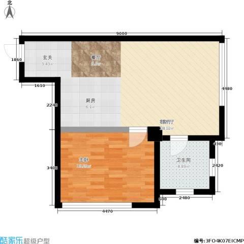 君悦长滨1室1厅1卫0厨49.34㎡户型图