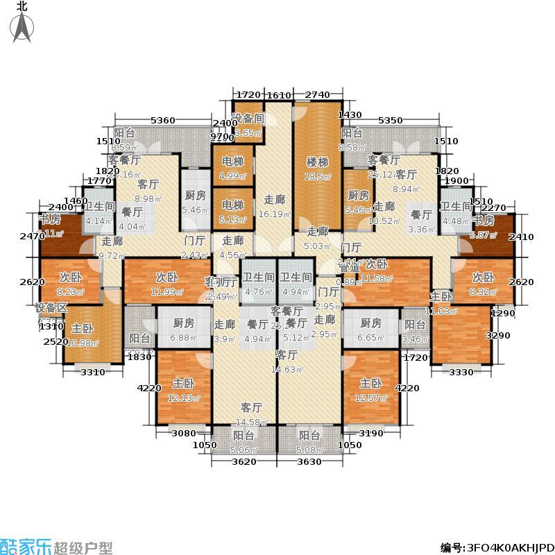 恒大绿洲7号楼2单元户型