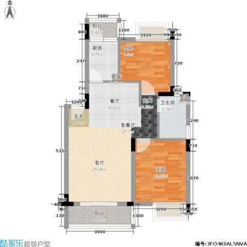 世纪春城2室1厅1卫1厨59.15㎡户型图
