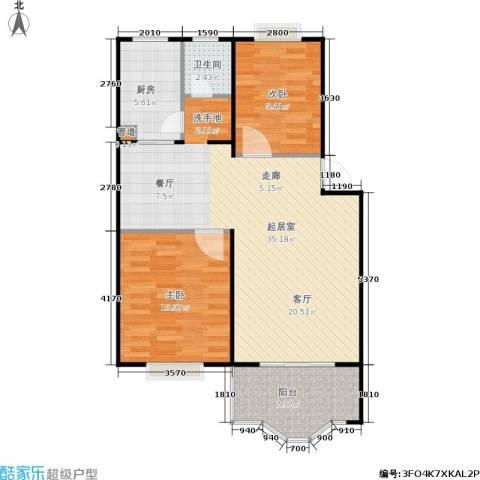 中星苑2室0厅1卫1厨80.00㎡户型图