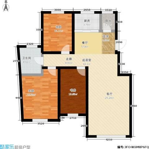 锦绣澜湾3室0厅1卫1厨127.00㎡户型图