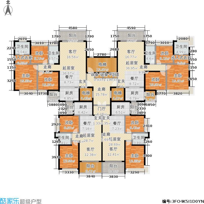 恒大城87.26㎡恒大城户型图20#、31#18层(2/5张)户型10室
