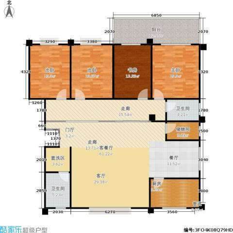丽水花园4室1厅2卫1厨197.00㎡户型图