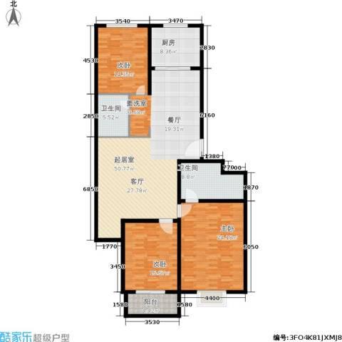 精良佳境3室0厅2卫1厨184.00㎡户型图