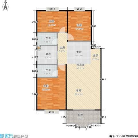 中星苑3室0厅2卫1厨121.00㎡户型图