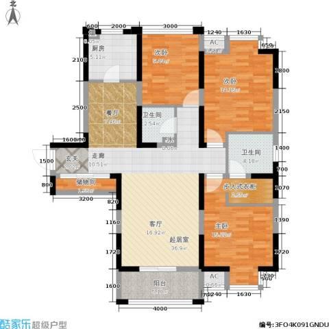 大明宫逸居3室0厅2卫1厨110.98㎡户型图