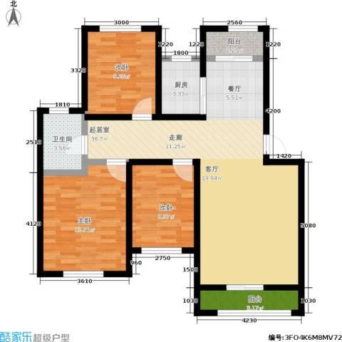锦绣澜湾3室0厅1卫1厨117.00㎡户型图