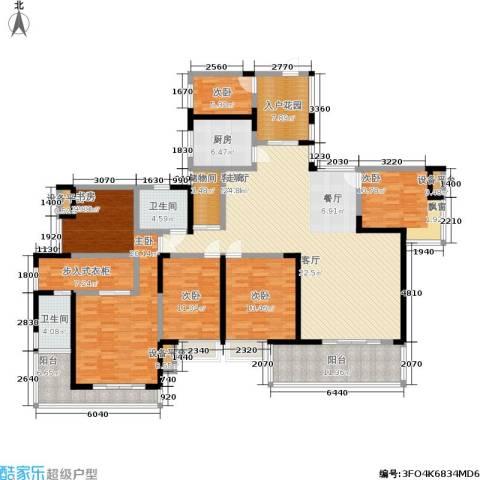 新长江香榭琴台四期墨园5室1厅2卫1厨223.00㎡户型图