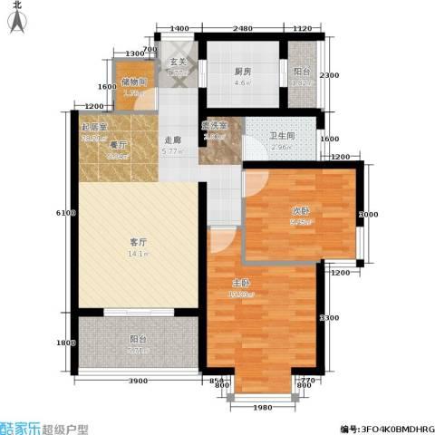 国际幸福城2室0厅1卫1厨120.00㎡户型图