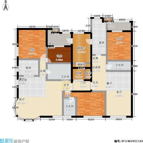 五四华庭4室0厅3卫2厨238.00㎡户型图