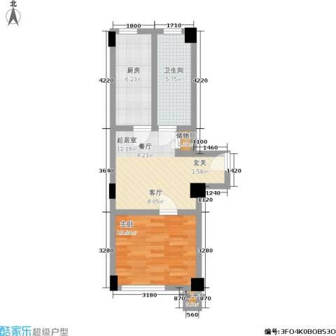 颐和香榭1室0厅1卫1厨37.00㎡户型图