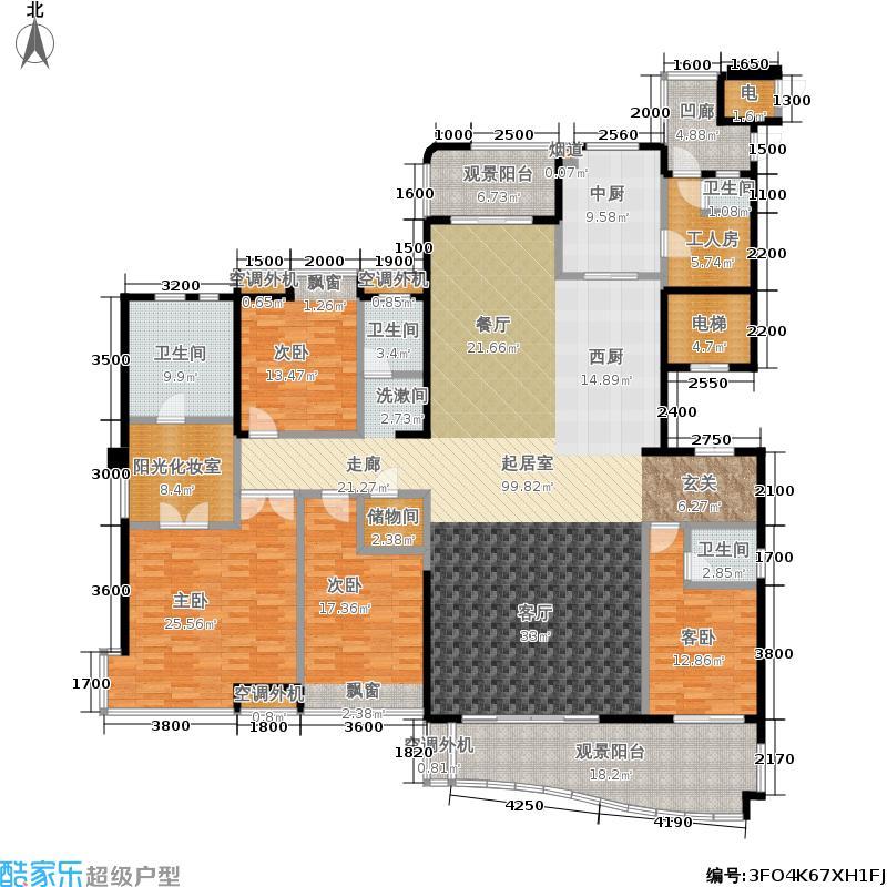 融科紫檀283.00㎡融科紫檀户型图户型图(4/4张)户型10室