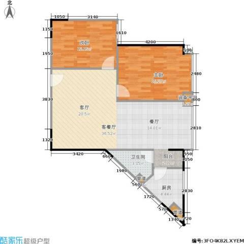 东门天厦2室1厅1卫1厨72.31㎡户型图