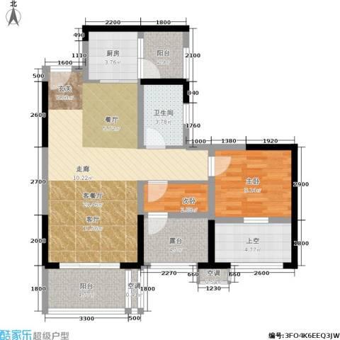 星河盛世2室1厅1卫1厨78.00㎡户型图