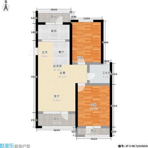 建荣皇家海岸2室0厅1卫1厨94.00㎡户型图