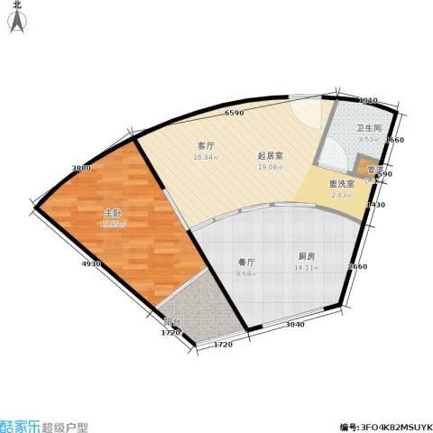 颐美会现代城1室0厅1卫1厨54.25㎡户型图