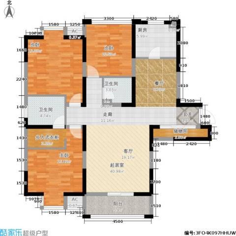 大明宫逸居3室0厅2卫1厨121.68㎡户型图