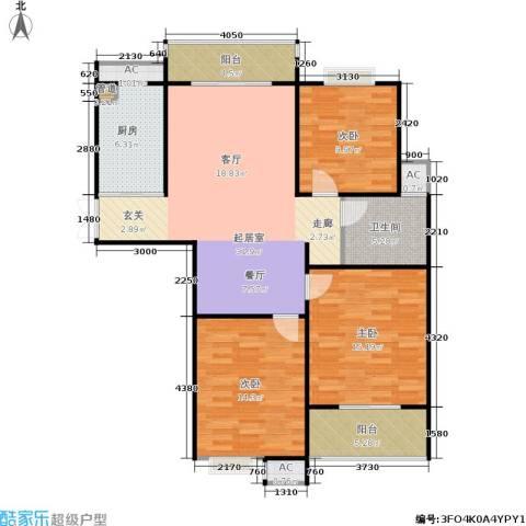 东方福郡3室0厅1卫1厨111.00㎡户型图