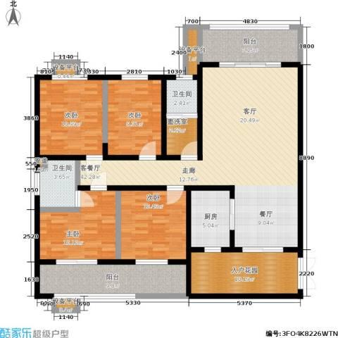 长泰豪园4室1厅2卫1厨185.00㎡户型图
