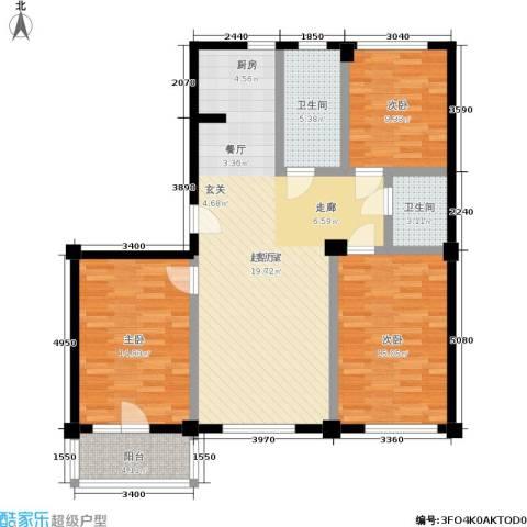 福佳绿都3室0厅2卫0厨128.00㎡户型图