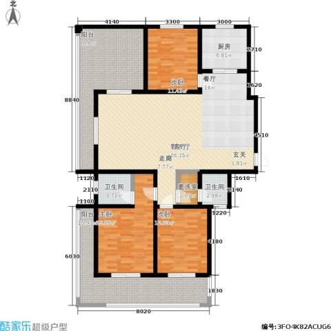 长泰豪园3室1厅2卫1厨200.00㎡户型图