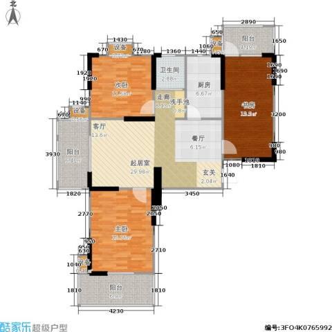莱茵河畔花园3室0厅1卫1厨181.00㎡户型图