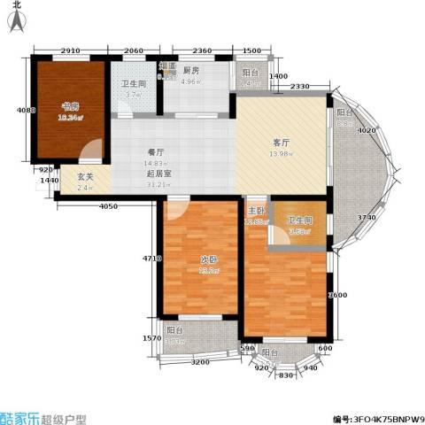 帝景豪庭3室0厅2卫1厨140.00㎡户型图