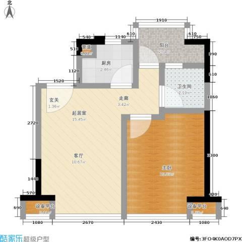 五米阳光1室0厅1卫1厨40.00㎡户型图