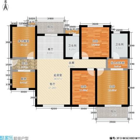 龙湖紫都城3室0厅2卫1厨169.00㎡户型图