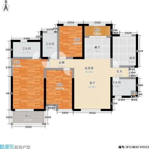 龙湖紫都城3室0厅3卫1厨160.00㎡户型图