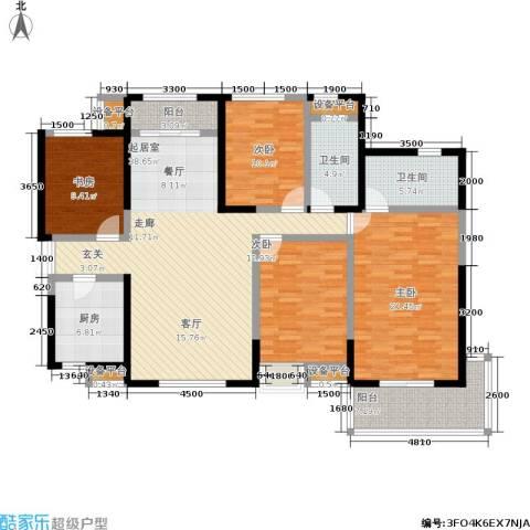 龙湖紫都城4室0厅2卫1厨179.00㎡户型图