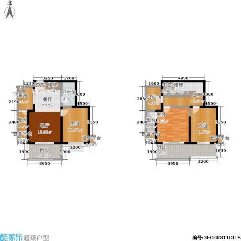 大华阳光曼哈顿3室0厅2卫1厨121.00㎡户型图