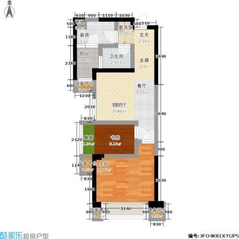 旭辉华庭2室1厅1卫1厨59.00㎡户型图