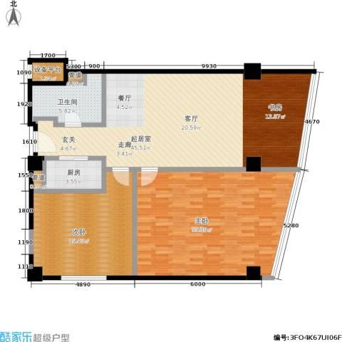 凯伦港湾天地2室0厅1卫1厨122.00㎡户型图