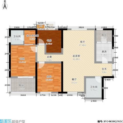 江山如画三期3室0厅2卫1厨150.00㎡户型图