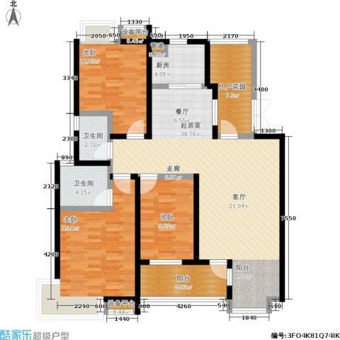 卧龙湾3室0厅2卫1厨116.00㎡户型图