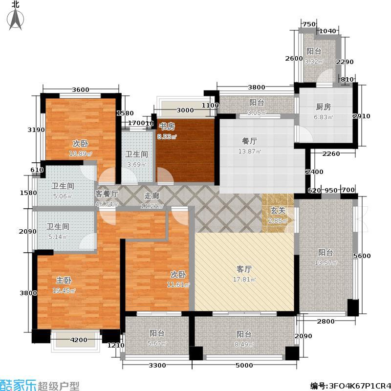 绿景公馆1866161.00㎡绿景公馆1866户型图建筑面积约:161平米(3/12张)户型4室2厅3卫