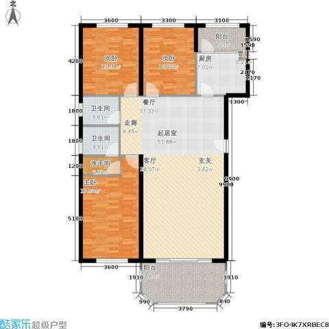 荷兰庄园3室0厅2卫1厨136.00㎡户型图
