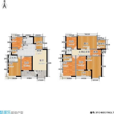 卧龙湾6室0厅4卫1厨234.00㎡户型图